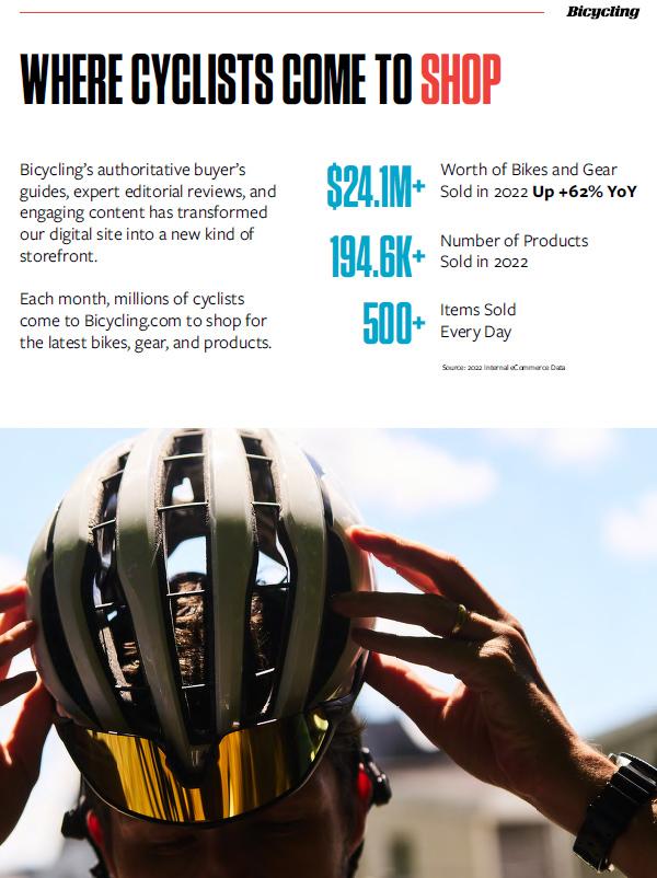 Bicycling E-Commerce - Bicycling Magazine Media Kit