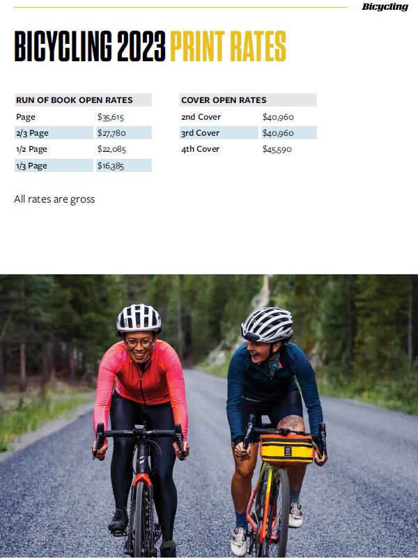 2021 General Rates - Bicycling Magazine Media Kit