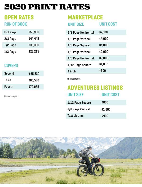 2020 Marketplace Rates - Bicycling Magazine Media Kit