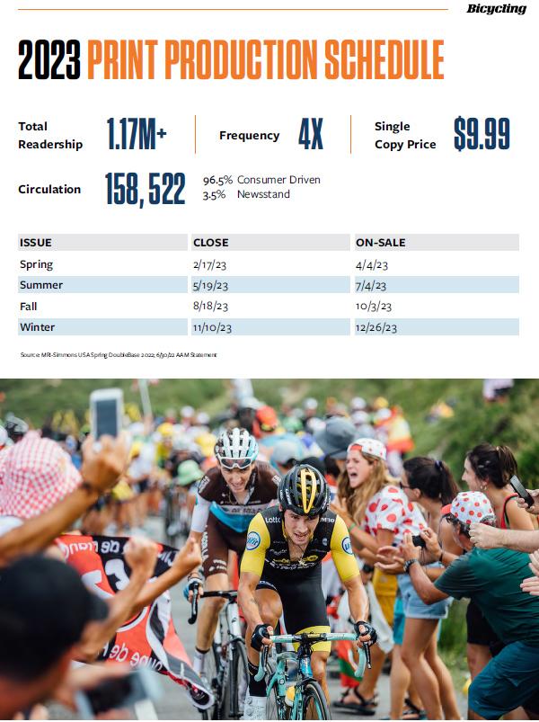 2021 Production Calendar - Bicycling Magazine Media Kit